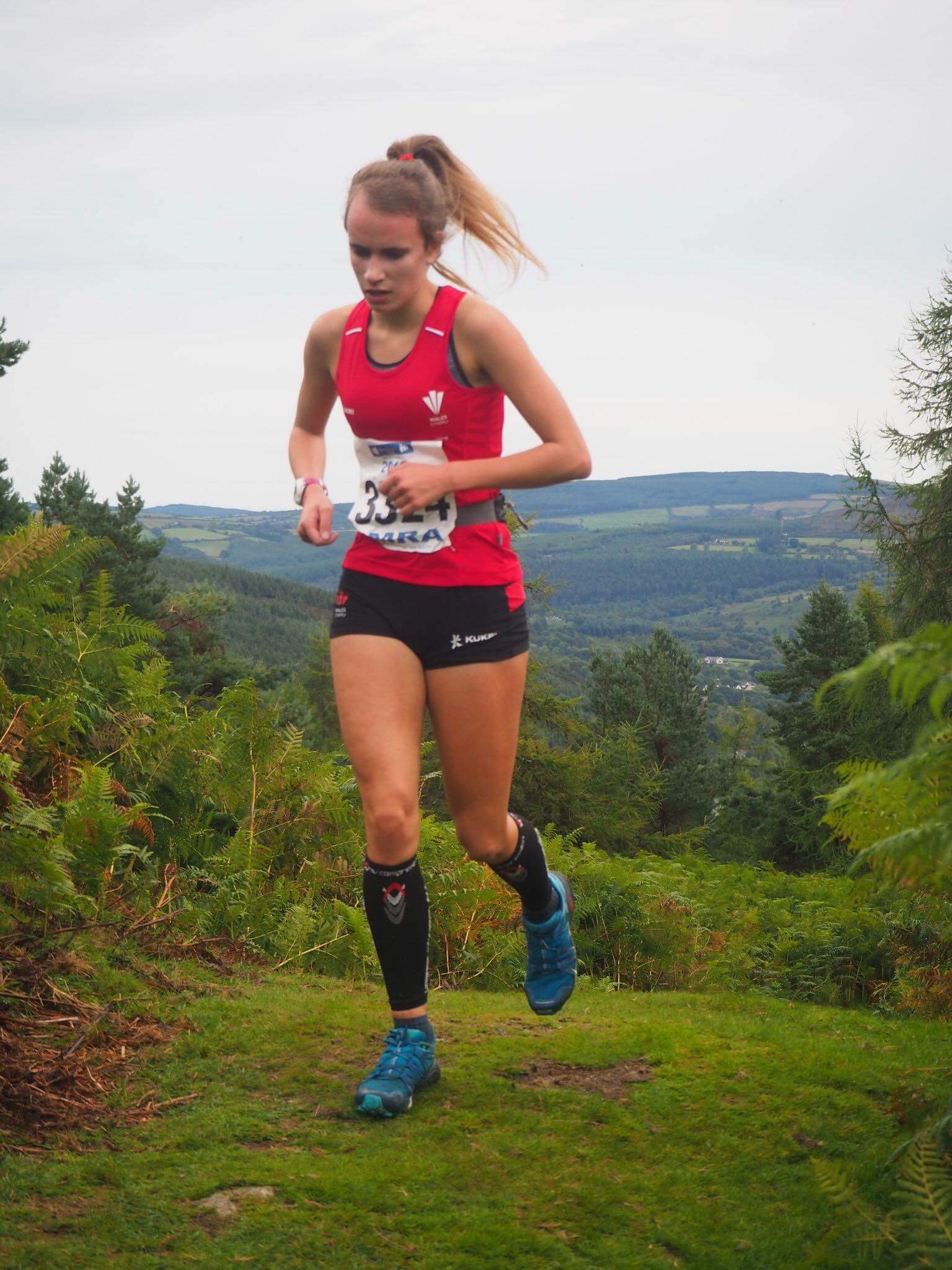 Jenna Bagnall Running For Wales in Wikclow Ireland